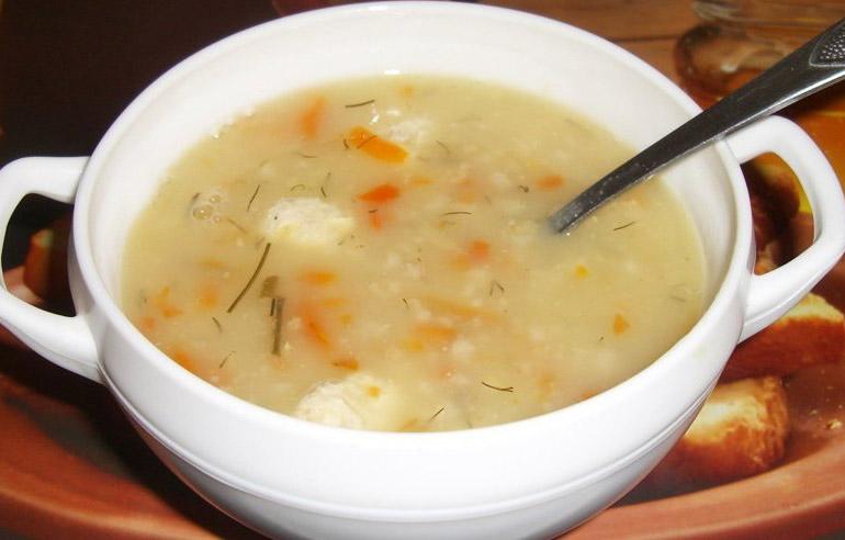 Суп картофельный с геркулесом
