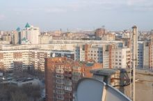 Aerial view of Novosibirsk, Russia