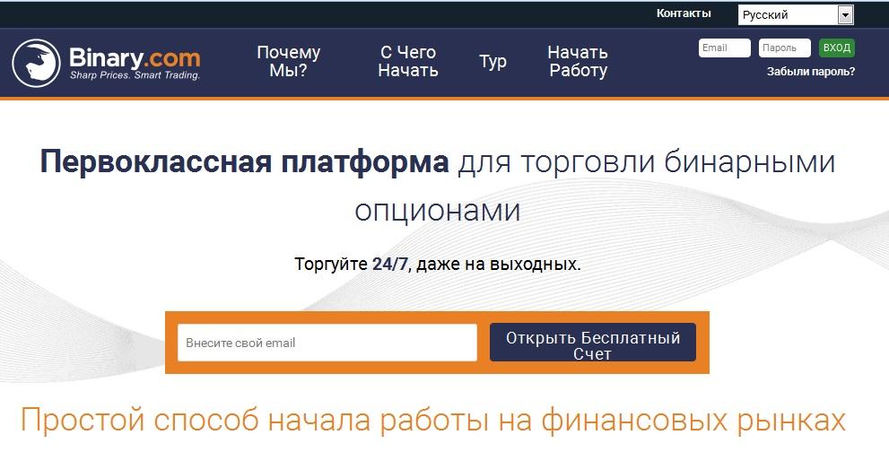 Обзор брокера Binary.com